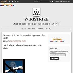 Drones: 98 % des victimes d'attaques sont des civils