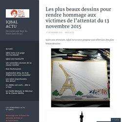 Les plus beaux dessins pour rendre hommage aux victimes de l'attentat du 13 novembre 2015