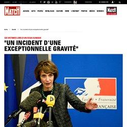 Marisol Touraine, lors de la conférence de presse tenue à Rennes, suite à un accident très grave survenu lors d'un essai clinique.