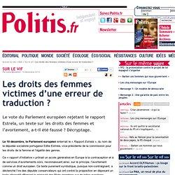 Les droits des femmes victimes d'une erreur de traduction ?