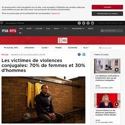 Les victimes de violences conjugales: 70% de femmes et 30% d'hommes