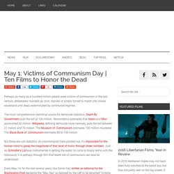 May 1: Victims of Communism Day