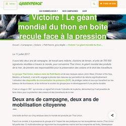 Victoire ! Le géant mondial du thon en boîte recule face à la pression citoyenne - Greenpeace France