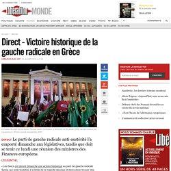 Direct - Victoire historique de la gauche radicale en Grèce