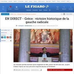 EN DIRECT - Grèce : victoire historique de la gauche radicale