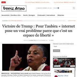 Victoire de Trump : Pour Taubira «internet pose un vrai problème parce que c'est un espace de liberté»