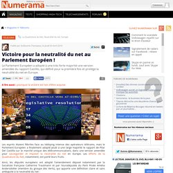 Victoire pour la neutralité du net au Parlement Européen !