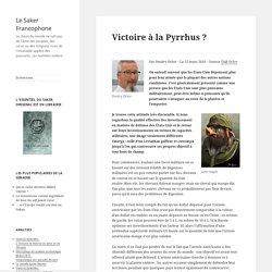 Victoire à la Pyrrhus ?