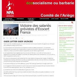 Victoire des salariés grévistes d'Ecocert France - NPA - Comité de l'Ariège