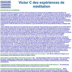 Victor C des expériences de méditation 6247 - Méditation