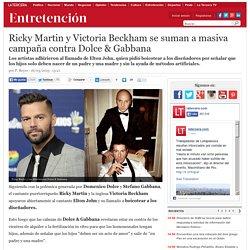 Ricky Martin y Victoria Beckham se suman a masiva campaña contra Dolce & Gabbana