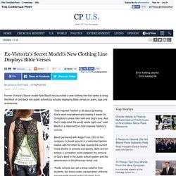 Ex-Victoria's Secret Model's New Clothing Line Displays Bible Verses