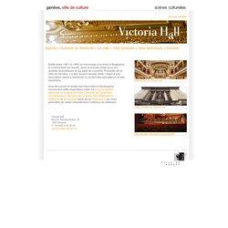 Victoria Hall - Département de la culture - Ville de Genève