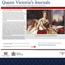 Queen Victoria's Journals - Home Page
