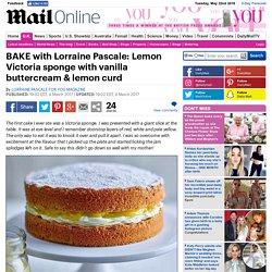 Lemon Victoria sponge, vanilla buttercream & lemon curd