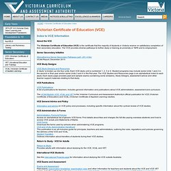 Environmental Science - Exams and Exam Assessment Reports - Studies - VCE - VCAA