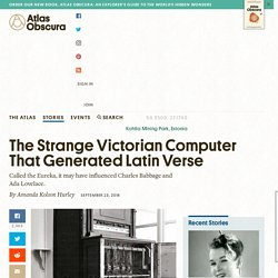 The Strange Victorian Computer That Generated Latin Verse