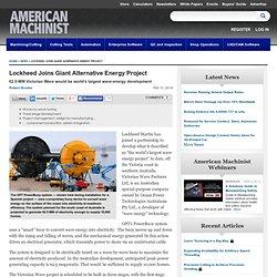 Lockheed Martin, Victorian Wave Partners Contract to Start Development