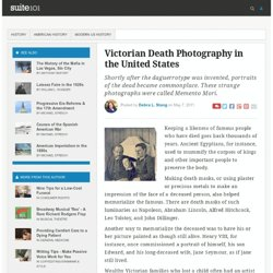 Victorian Death Photography in the United States