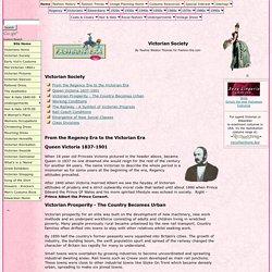 Victorian Society - History 1837 to 1901
