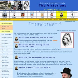 Victorians Homework for kids - Woodlands