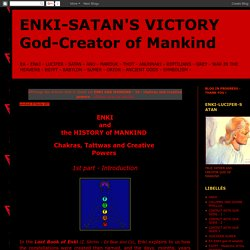ENKI-SATAN'S VICTORY God-Creator of Mankind: ENKI AND MANKIND - 15 - chakras and creative powers