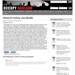 Occupy OaklandOccupy Oakland