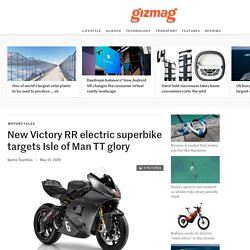 New Victory RR electric superbike targets Isle of Man TT glory