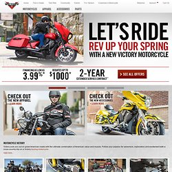 Victory Motorcycles: Touring, Cruiser, Muscle, V-Twin & Wide-Tire