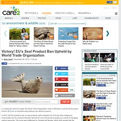 Victory! EU's Seal Product Ban Upheld by World Trade Organization