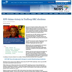 EFF claims victory in Turfloop SRC elections:Sunday 15 March 2015