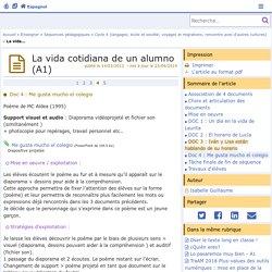 La vida cotidiana de un alumno (A1) - Page 4/5 - Espagnol