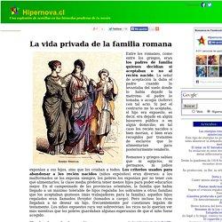 La vida cotidiana en la antigua Roma: La familia.