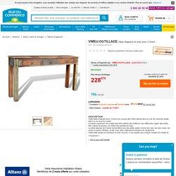 Vidaxl Table d'appoint en bois avec 3 tiroirs - pas cher Achat / Vente Tables d'appoint