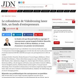 Frédéric Mazzella, Thierry Petit et Olivier Mathiot lancent Side, un fonds d'entrepreneurs