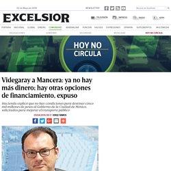 Videgaray a Mancera: ya no hay más dinero; hay otras opciones de financiamiento, expuso