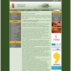 Vidékfejlesztési Minisztérium - 4/2010. (VII. 5.) VM rendelet