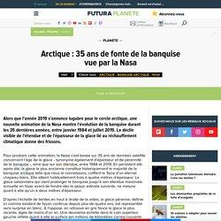 Arctique : 35 ans de fonte de la banquise vue par la Nasa