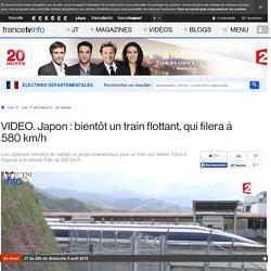 Japon : bientôt un train flottant, qui filera à 580 km/h