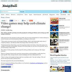 Video games may help curb climate change!