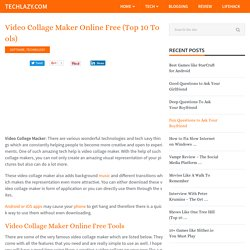 Video Collage Maker Online Free (Top 10 Tools)