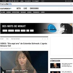 """VIDEO. """"Dix-sept ans"""" de Colombe Schneck: L'après Simone Veil"""