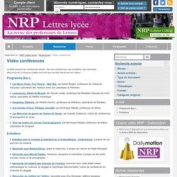 Vidéo conférences - NRP Lycée
