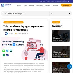 Video conferencing boom with zoom and others