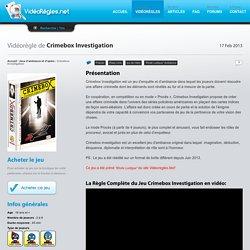 Vidéo règle du jeu Crimebox Investigation