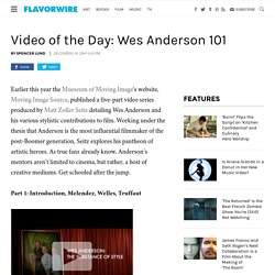 Video of the Day: Wes Anderson 101
