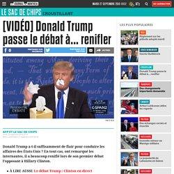 [VIDÉO] Donald Trump passe le débat à... renifler