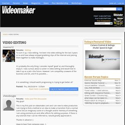Video News » video editing
