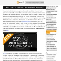 21 Best Video Editors For Free Download (Windows)