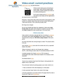 Video email: current practices